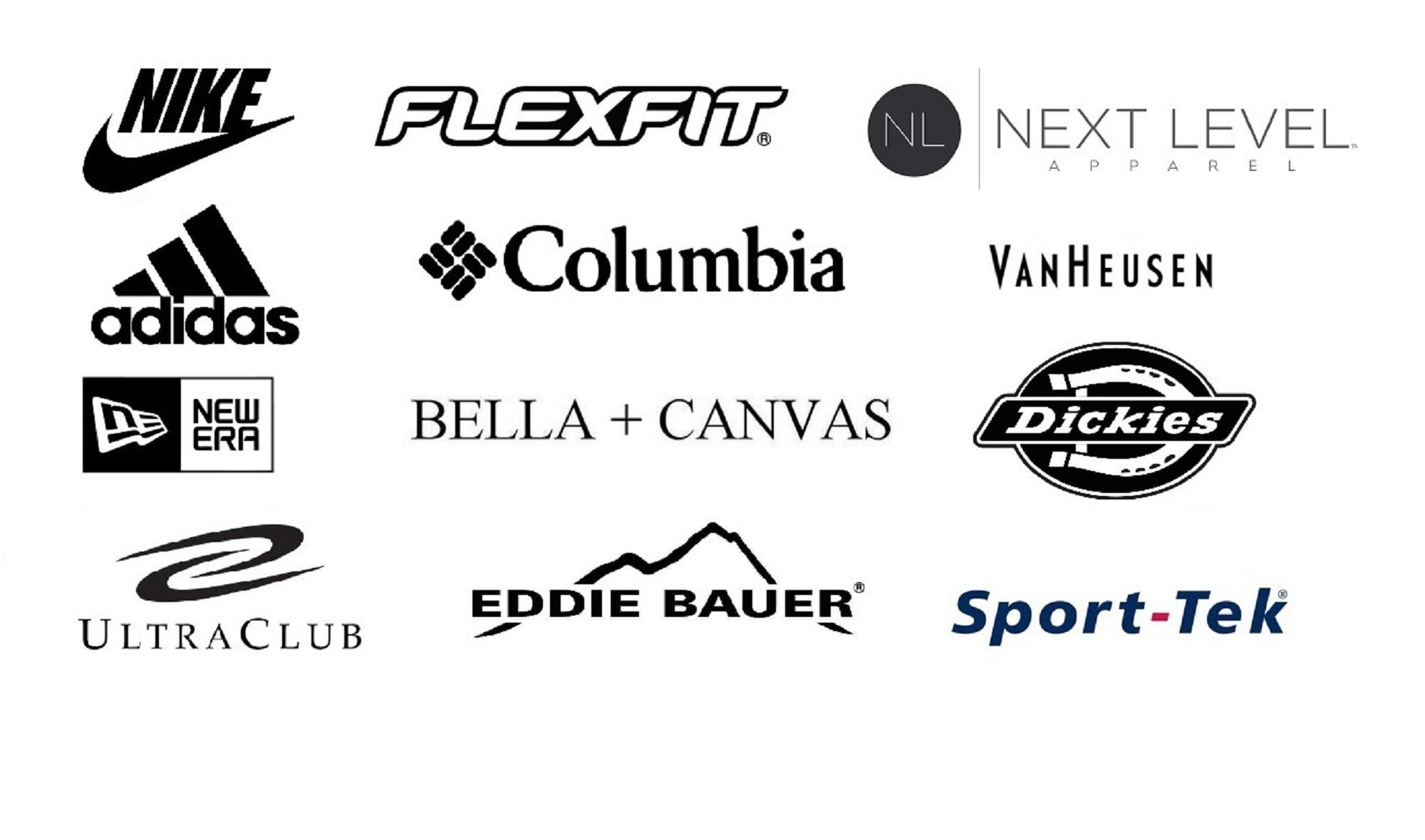 Nike, Adidas, Columbia, Flexfit, New Era, Eddie Bauer