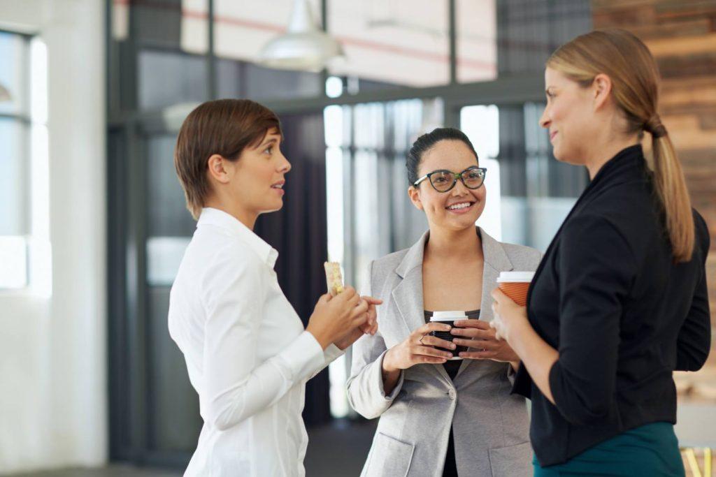 Business Women Talking in an Event LAEDA Women Business Center