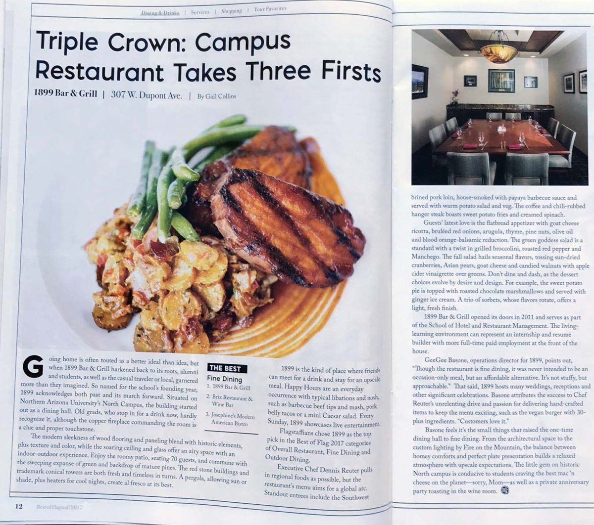 Triple Crown:  Campus Restaurant Takes Three Firsts