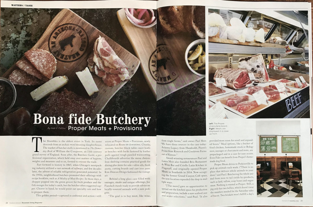 Bona fide Butchery:  Proper Meats + Provisions