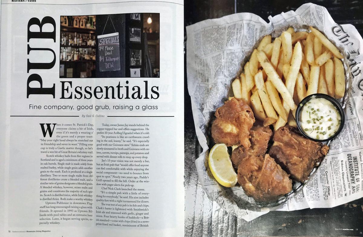 Pub Essentials   Fine company, good grub, raising a glass