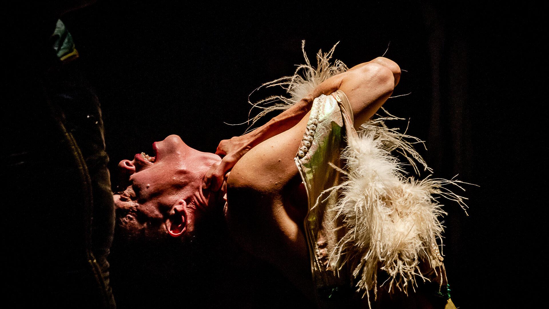 Fremd ist dein kleid (Strange is Your Dress), under the direction of Felix Ruckert at eXit'19 festival in Germany. Photo: schloss bröllin e.V. / Peter van Heesen