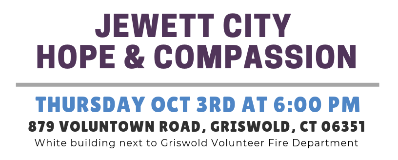 October 2019 - Jewett City Hope and Compassion Event Details