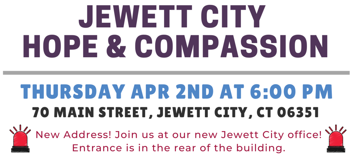 April 2020 - Jewett City Hope and Compassion Event Details Featured
