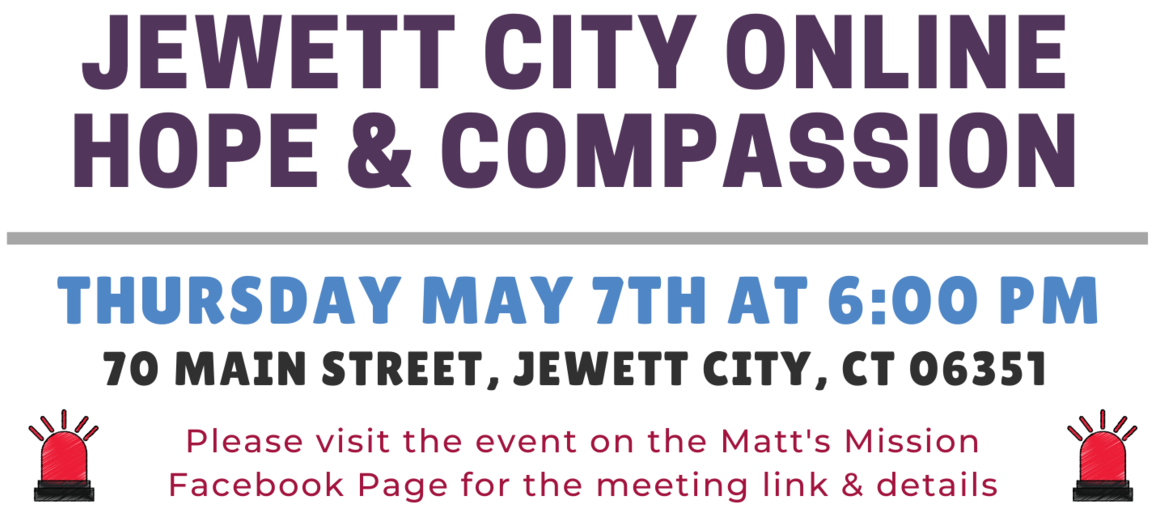 May 2020 - Jewett City Hope and Compassion Event Details Featured