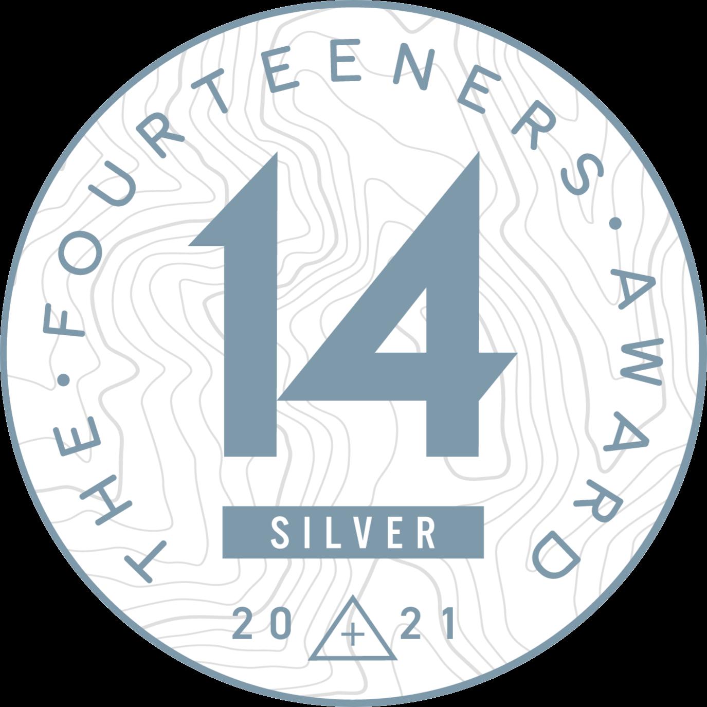 Fourteeners Award Colorado 2021