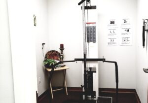 It's simply a fitness equipment utilizing the use of pulleys and cables in order to lift weight plates which serve as the resistance. The pulley allows for more weight to be lifted which makes this machine a great choice for beginners.