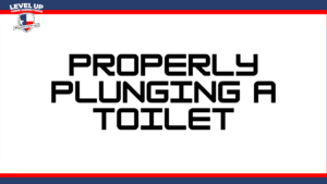 properly plunging a toilet
