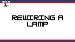 Rewiring a lamp