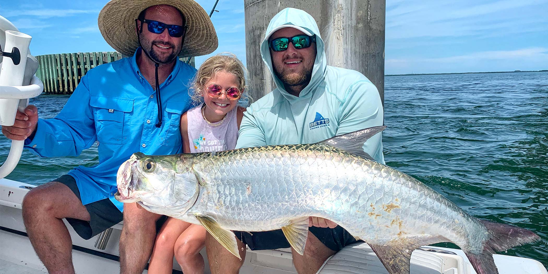 This family had a great time on their inshore charter, which included landing this big tarpon!