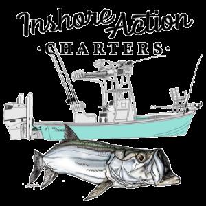 Full InshoreAction Fishing Charters Logo.