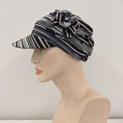 black stripe florette hat