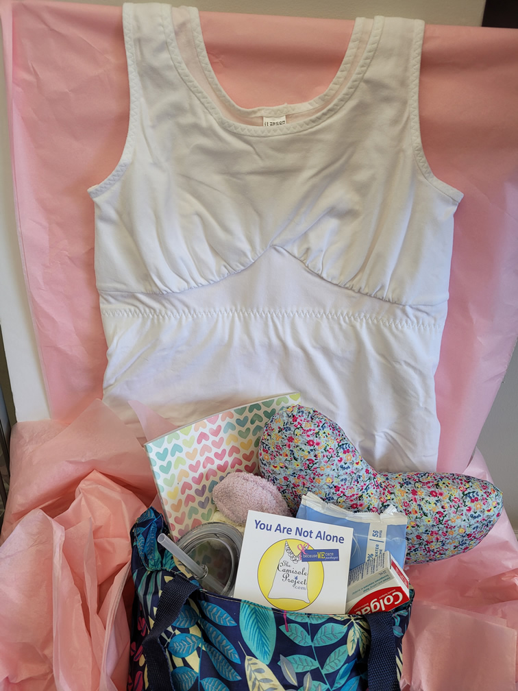 post surgical camisole and because we care package