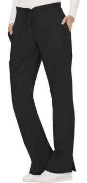 Women's Black Drawstring Scrub Pant