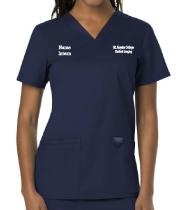 Women's Navy V-Neck Scrub Top