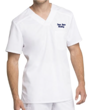 Men's White Scrub Top