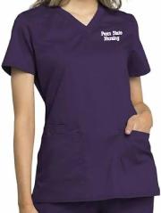 Women's Navy Scrub Top