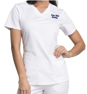 Women's White Scrub Top
