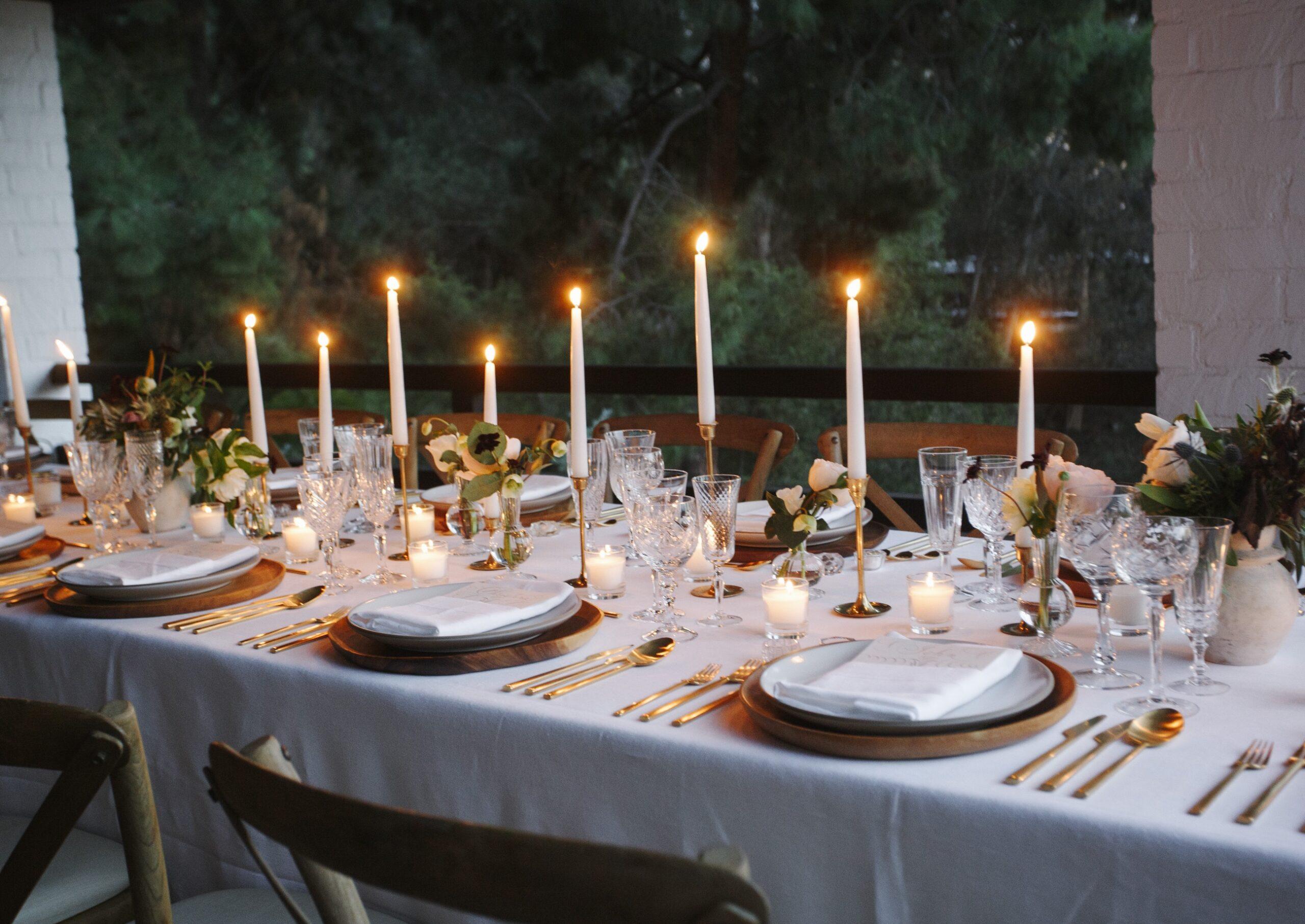 Candlelit Engagement Dinner