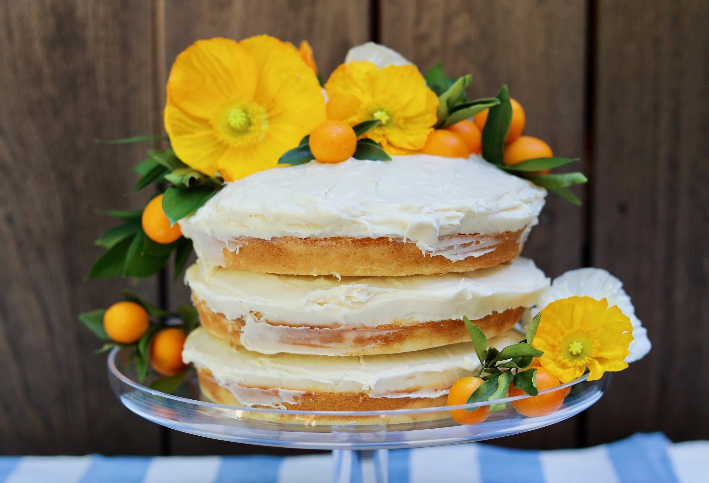 Floral Naked Cakes