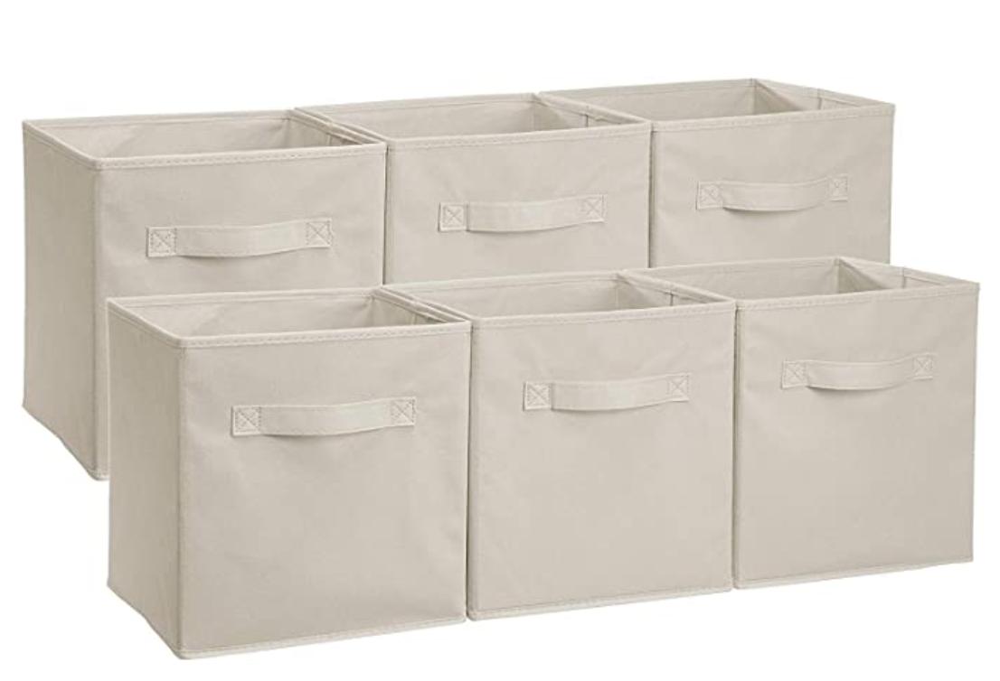 AmazonBasics Collapsible Fabric Storage Cubes