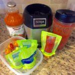 Homemade baby food: PeachRaspberryCarrotPuree