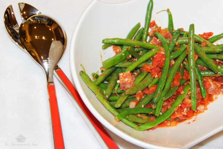 Tomato Bacon Smothered Green Beans {Whole30} {Paleo}