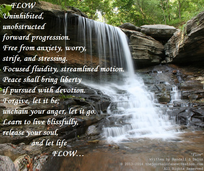 """""""Flow"""" Written by Randall S Daluz © 2013-2014 thejournalofanewcreation.com All Rights Reserved"""