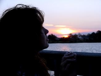 Randall Daluz _ Girl Looking At Sunset