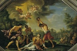 """Stoning of Saint Stephen"" by Filippo Lauri"