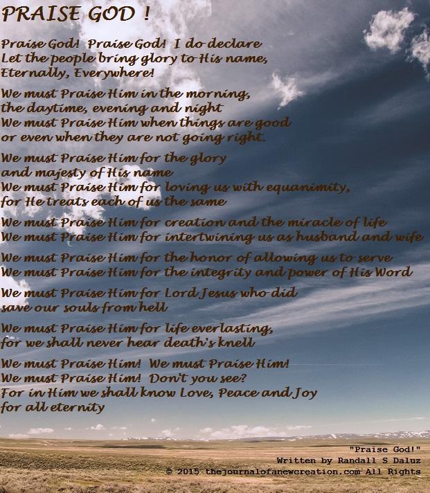 """Praise God!"" by Randall S Daluz"
