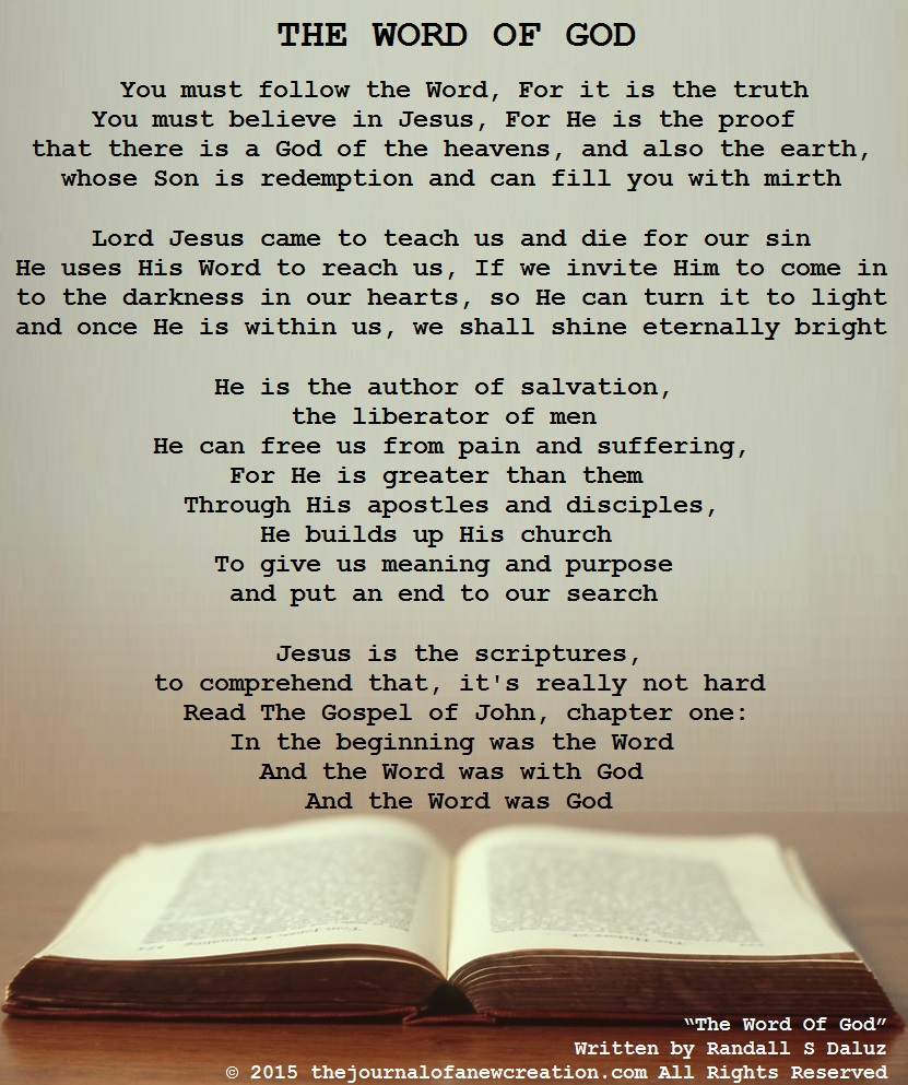 """""""The Word Of God"""" by Randall S Daluz"""