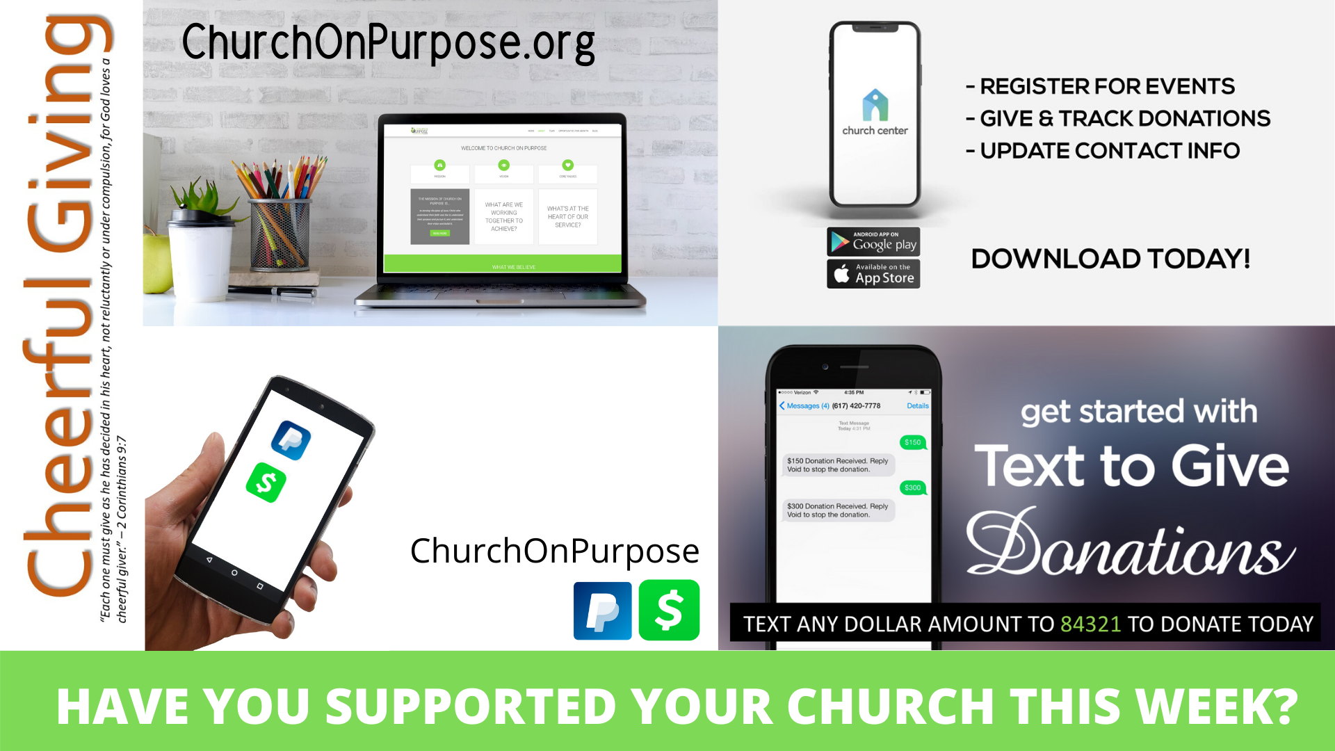 HAVE YOU SUPPORTED YOUR CHURCH THIS WEEK_