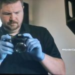 """Murder Comes To Town (Season 5, Episode 5 """"Tragedy Comes In Pairs""""; CSI Tech)"""