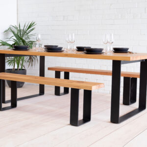 Messmate Dining table with benches