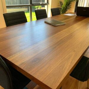 spotted gum dining room table image