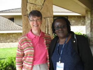 Kate Campbell and Caroline Abeja Apunyo