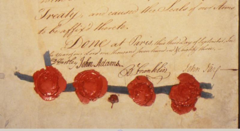 Signatures on Treaty of Paris