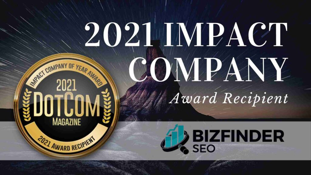 bizfinder impact company of the year award