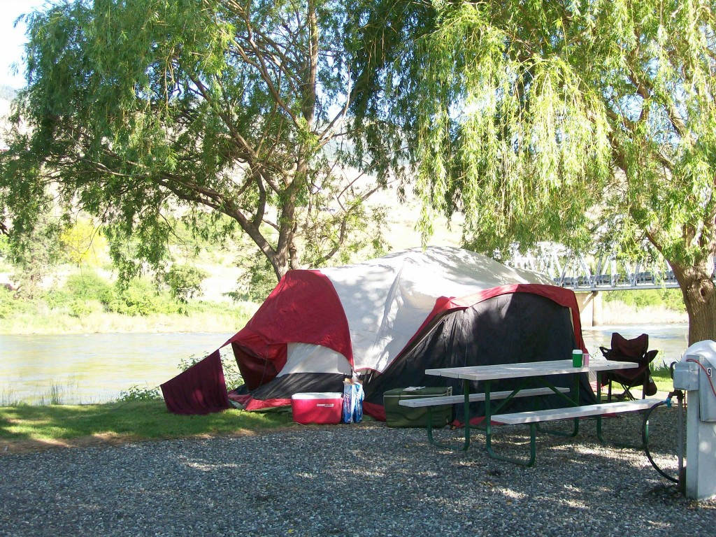 Salmon River Tent Camping at Swiftwater RV Park in White Bird Idaho