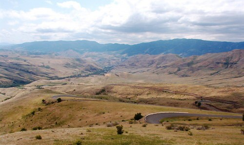 View of the Old Hwy 95 in White Bird, Idaho