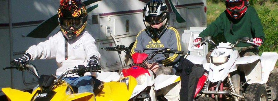 Swiftwater RV park welcomes family groups with ATV Riders of all ages.