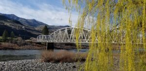 Silver Bridge over the Salmon River - view from Swiftwater RV Park
