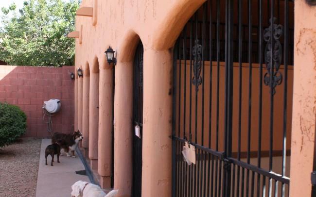 Sidewalk of outside suite