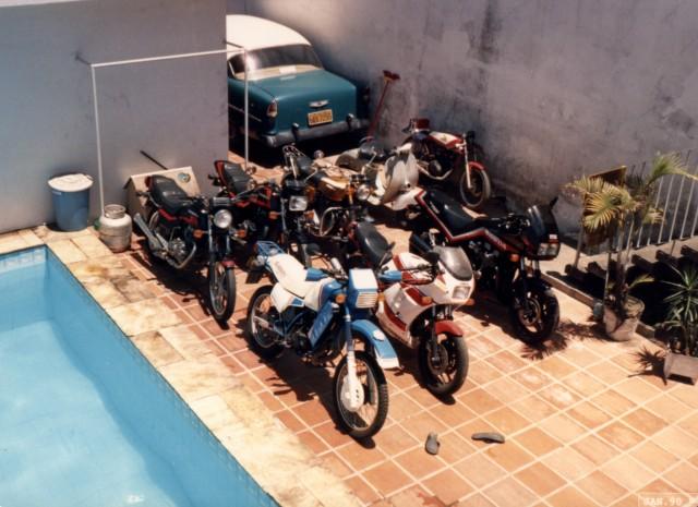 Algumas das motos que meu pai deixou de herança. Foto Acervo Marazzi / Motostory