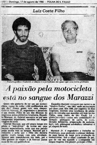Nota publicada pelo amigo Luiz Costa Filho. Foto Acervo Marazzi / Folha / Motostory