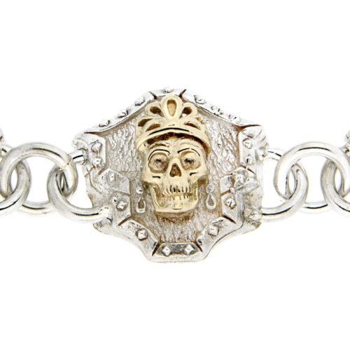 Golgotha Bracelet Skull Queen Sterling Rose Gold Yellow Gold
