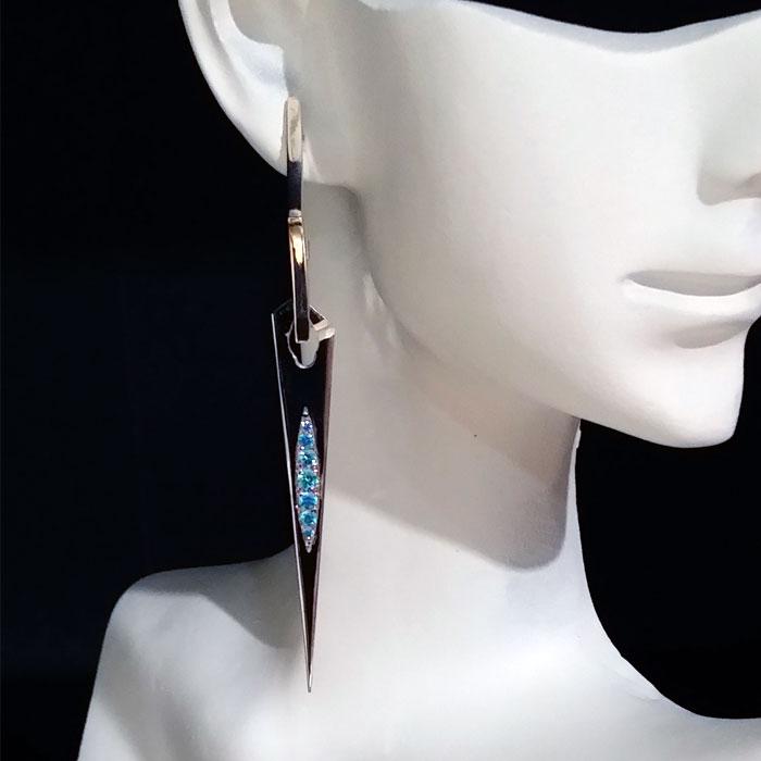 MOD Earrings Earring Charm Sterling Rose Gold Yellow Gold CZ