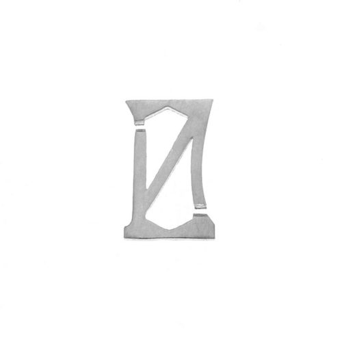 Nineteen Letter N Charm Sterling Yellow Gold Rose Gold