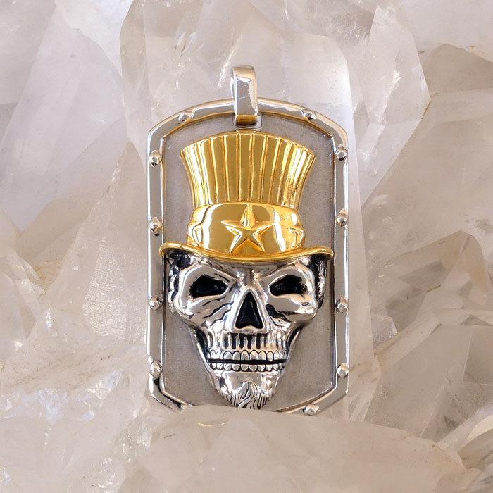 Golgotha Tag Skull Sam Sterling Rose Gold Yellow Gold